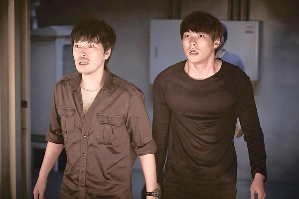 """Jung Jae-young, left, and Daniel Choi star in the character-driven South Korean sci-fi film """"11 A.M."""""""