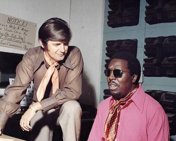 Rick Hall (left) and Clarence Carter (right).