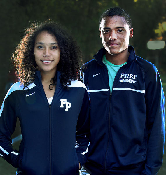 Sister and brother star runners Sarah and Alan Yoho, of Flintridge Prep cross country, on Monday, Nov. 25, 2013.