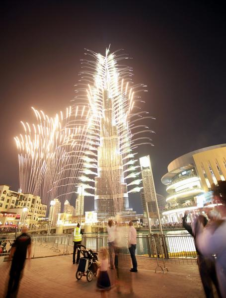 Fireworks and illumination of the world's tallest building in Dubai, United Arab Emirates, greeted Wednesday's announcement in Paris that the city has been chosen to host World Expo 2020.