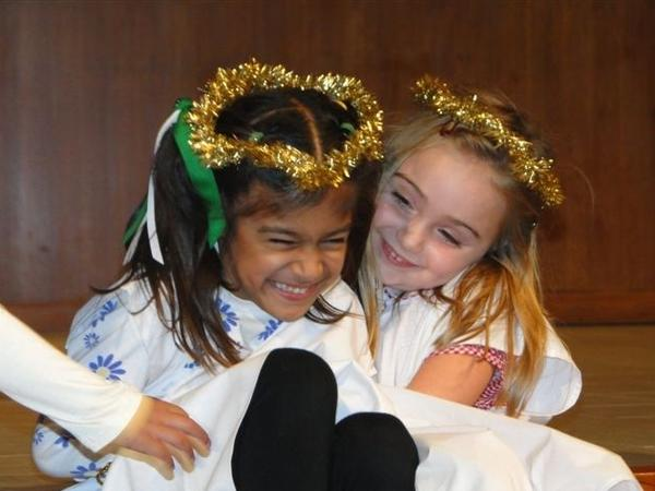 Little angels celebrate in the 2012 Advent Celebration at La Canada Presbyterian Church.