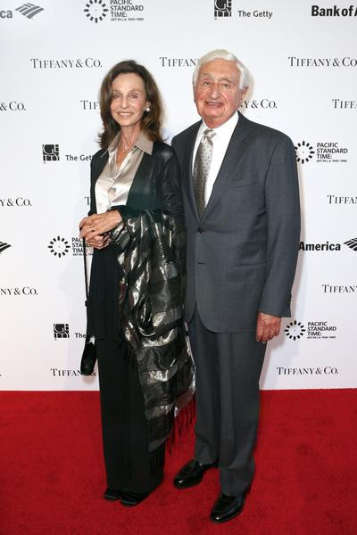 """Nancy Englander and Harold Williams arrive at the """"Pacific Standard Time: Art in LA 1945-1980"""" opening event at the Getty Center in 2011."""