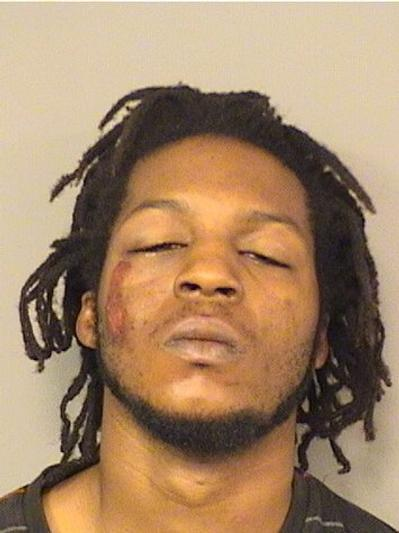 Michael Anthony Davis, 22, of Belle Glade is accused of assaulting six deputies after a deputy tried to stop him for a pedestrian violation on Tuesday.