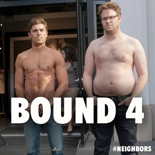 Zac Efron, Seth Rogen in 'Bound 4'