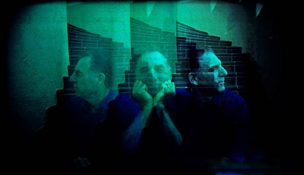 Actor Michael Richards in a triple exposure made with a Holga camera at his home in Pacific Palisades.