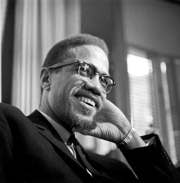 Former Nation Of Islam leader and civil rights activist El-Hajj Malik El-Shabazz (aka Malcolm X and Malcolm Little) poses for a portrait on February 16, 1965, in Rochester, New York.