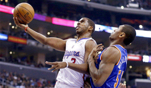 Chris Paul had 15 points with seven assists and five rebounds before exiting the game against the New York Knicks in the third quarter on Wednesday with a hamstring injury.