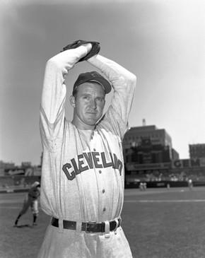 Pitcher Lou Brissie, shown in 1952, played for the Cleveland Indians after being traded by the Philadelphia A's.