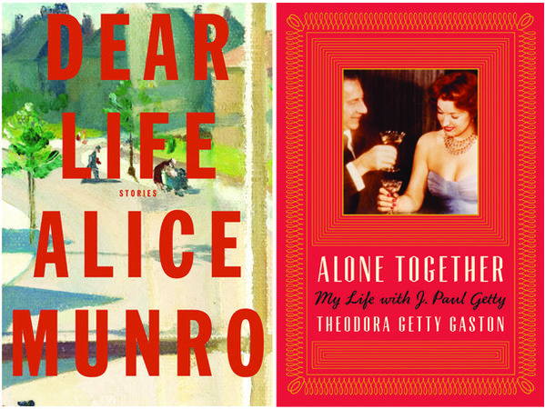 "The covers of ""Dear Life"" and ""Alone Together."""