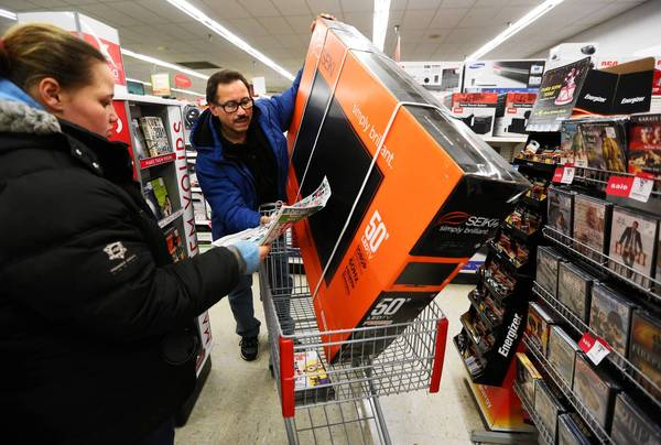 Because 15% of consumers shop on Black Friday, retailers such as Kmart, above, open on Thanksgiving to spur more sales.