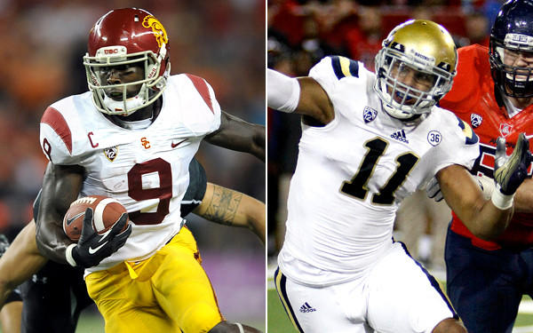 USC receiver Marqise Lee (9) and UCLA linebacker Anthony Barr (11) will be coveted draft picks by NFL teams.