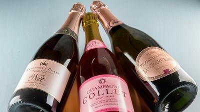 For holiday sparkle, think pink bubbly