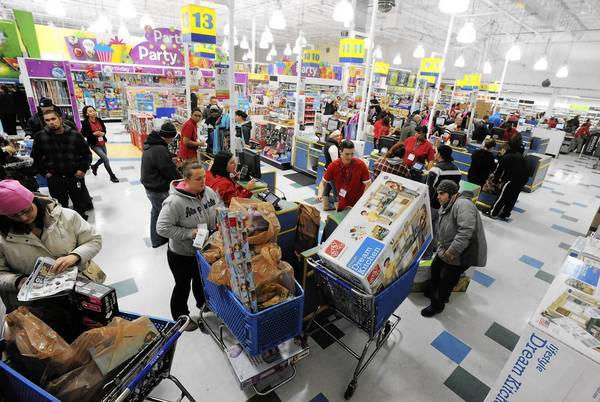 More than 200 shoppers flooded Toys R Us in Whitehall Township when it opened at 5 p.m. on Thanksgiving.
