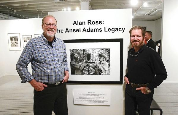 "Alan Ross, left, and gallery owner and operator Ludo Leideritz at the opening reception for the ""Alan Ross: The Ansel Adams Legacy"" show at the Forest and Ocean Gallery. The show features prints by Alan Ross and Ansel Adams."