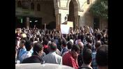 Mourners bury Egyptian student killed in Islamist demo