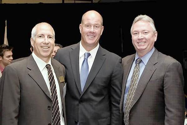 From left, Jeff Garell (KidWorks Board Member), Jim Abbott, Keynote Speaker and Steve Craig, Gold Sponsor, Craig Realty Group /Citadell Outlets and KidWorks Board Member attended the annual KidWorks luncheon Nov. 14.