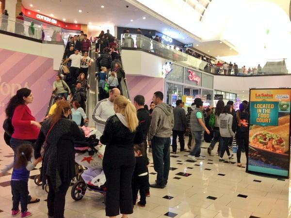 Black Friday shoppers line up at Glendale Galleria at 2 a.m. on Friday, Nov. 29, 2013.