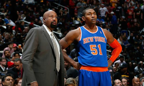 If the Knicks don't start winning soon, Metta World Peace may have wasted his time learning that the team's coach was Mike Woodson.