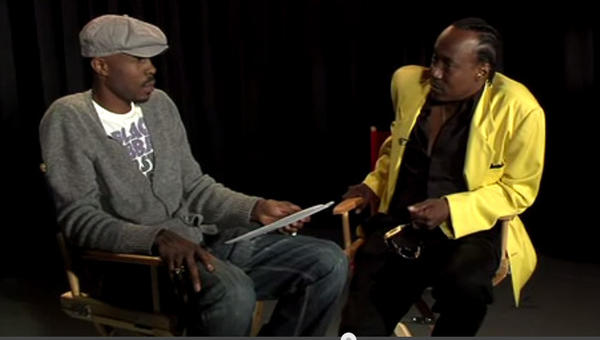 Actor Wood Harris, who played Avon Barksdale in The Wire, interviews Nathan Barksdale who claimed to be the inspiration for the character, in this YouTube clip.