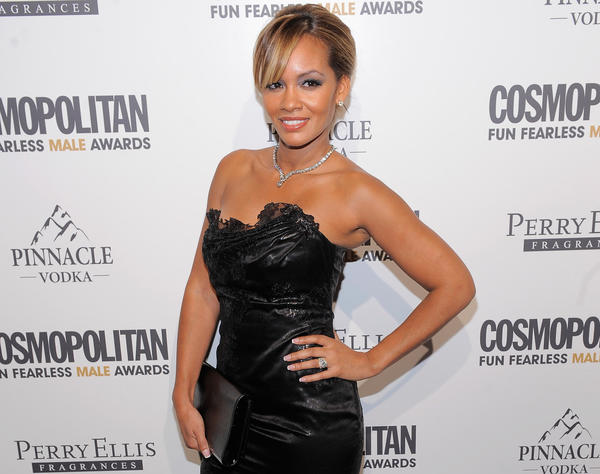 """""""Basketball Wives"""" star Evelyn Lozada attends a Cosmopolitan magazine event at the Mandarin Oriental Hotel in New York."""