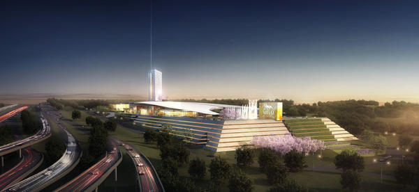A rendering shows the MGM National Harbor design planned for National Harbor.