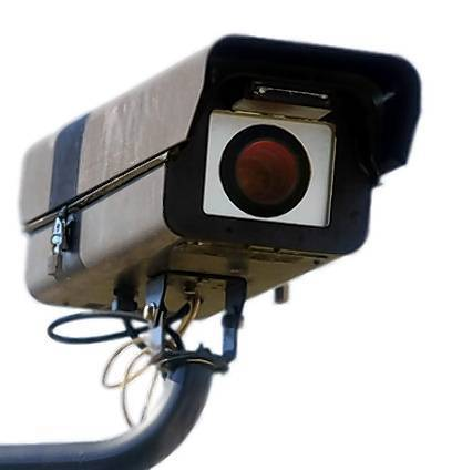 Red light camera at Hallandale Beach Boulevard and Federal Highway in Hallandale Beach.