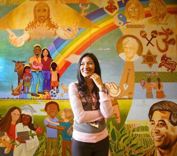 Mariana Romero in the lobby of the Hope CommUnity Center in Apopka.