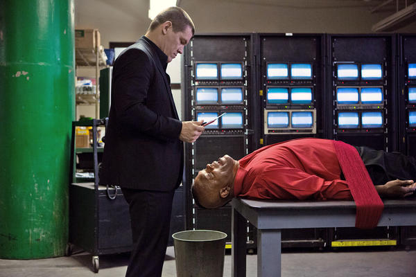 "Josh Brolin and Samuel L. Jackson in the Spike Lee film ""Oldboy."""