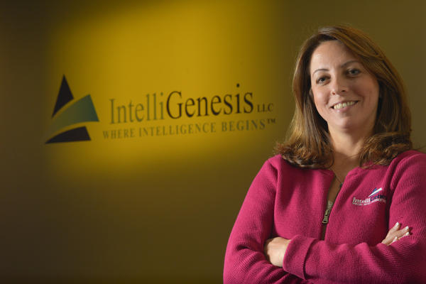 """One of the most important roles that I have is to make sure that I have a very good communication with the employees,"" IntelliGenesis president and CEO Angie Lienert says."