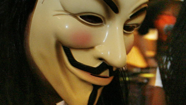 "Shown is a 2007 file photo of a mask depicting the character in the film ""V for Vendetta."" A North Miami Beach police officer is accused of refusing to take off a similar mask he wore while on the street protesting this month, officials say. Sun Sentinel file photo"