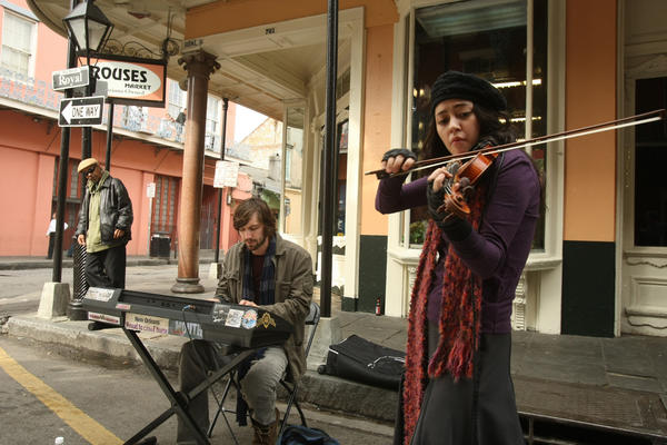 "Lucia Micarelli as violinist Annie Tee, one of the fully realized female characters in ""Treme."" David Simon says the women in ""Treme"" include the best female characters he's written."