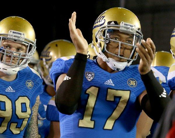 UCLA quarterback Brett Hundley led the Bruins to a 383-28 victory over USC last season.