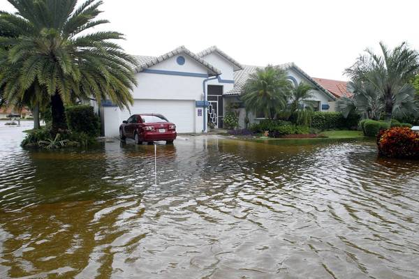 Heavy street flooding occurred in Sun Valley, in western Boynton Beach, because of Tropical Storm Isaac.