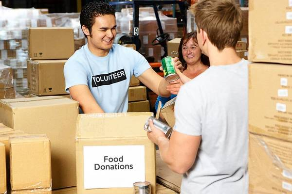 Volunteers are always needed at agenices like the food bank.