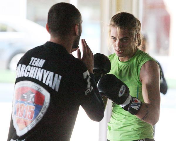 Jessamyn Duke won her UFC debut on Saturday night. (Tim Berger Staff Photographer)