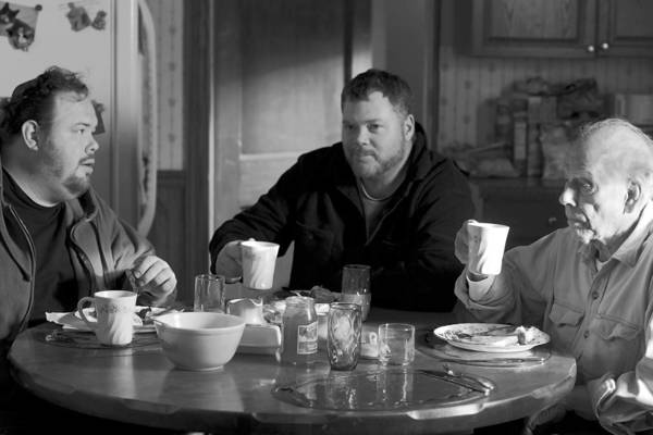"Devin Ratray, left, is Cole, Tim Driscoll is Bart, Rance Howard is Uncle Ray and Mary Louise Wilson is Aunt Martha in ""Nebraska."""