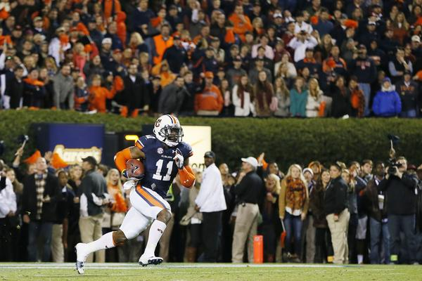 Auburn's Chris Davis returns a missed field goal for the game-winning touchdown.