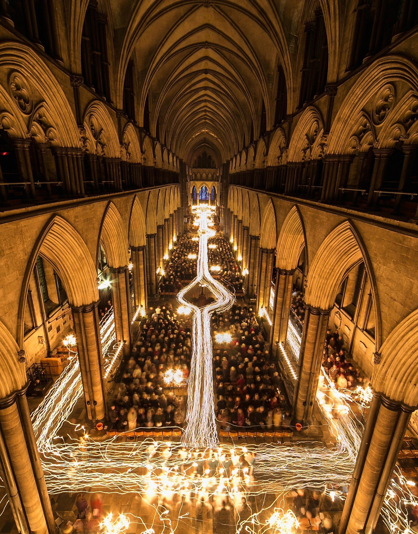 Pictures: Holiday lights from around the globe - Darkness To Light Advent Procession Starts Salisbury Cathedral