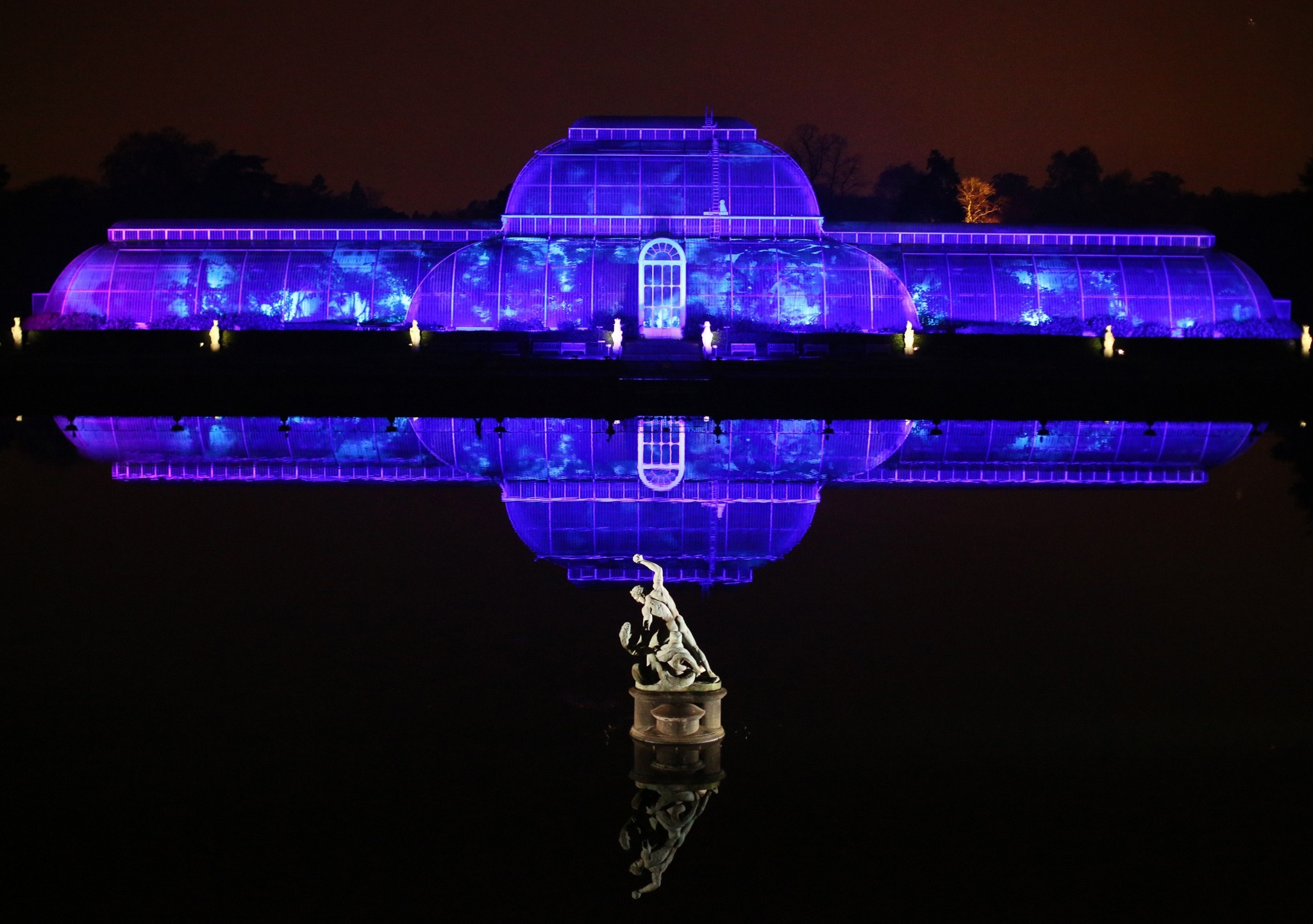 Pictures: Holiday lights from around the globe - Illuminated Trail Lights Up Kew Gardens For Christmas