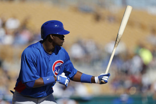 Chicago Cubs' Jorge Soler during spring training.