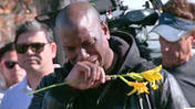 Tyrese in Tears at Crash Site