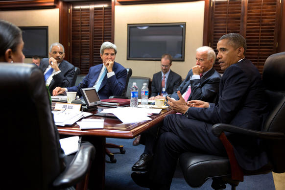 "President Obama warned in 2012 that the use of chemical weapons by Syrian President Bashar Assad would cross a ""red line for us"" and bring a strong U.S. response, likely including military action. Then, in 2013, when the United Nations confirmed that chemical weapons had been used on civilians and all signs pointed to the Syrian government for the attack, Obama changed his tone. It's not <em>my</em> red line, he said. It's the <em>world's</em> red line. <br><br>