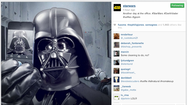 Star Wars posts first Instagram and it's a Darth Vader selfie