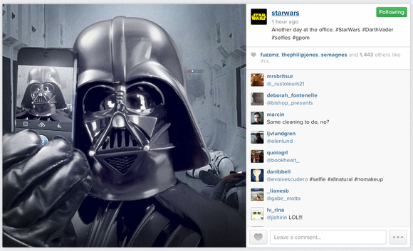 Star Wars on Instagram