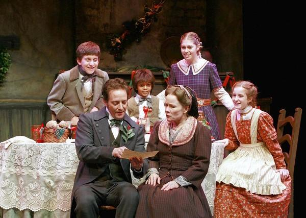 "The cast in Charles Dickens' ""A Christmas Carol"" at South Coast Repertory."