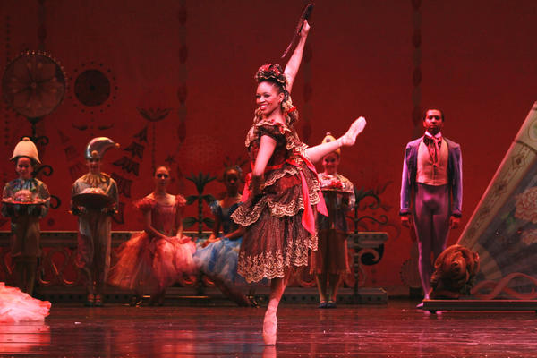"Joffrey Ballet dancer Erica Lynette Edwards performs as Chocolate from Spain in ""The Nutcracker"""