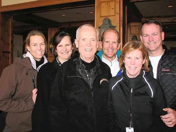 Bob Wynn with his five kids, Franny, Susan, Steve, Chris and Greg at a family reunion at Beaver Creek in 2009.