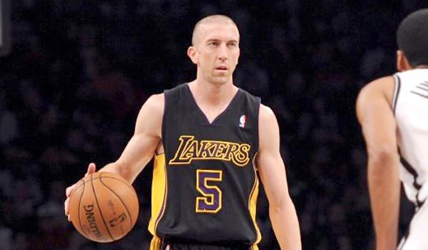 Steve Blake ended Sunday's game against the Portland Trail Blazers with an ice pack on his right elbow. If he is unable to play Tuesday, the Lakers could be forced to start Xavier Henry or Jodie Meeks at the point guard position.