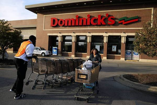With 15 Dominick's stores now sold, 57 remaining locations in the Chicago area, including this one at 424 W. Division St. in Chicago, will either be sold or closed.