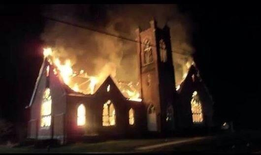 Fire at Lazarus United Church of Christ